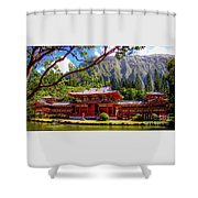 Buddhist Temple - Oahu, Hawaii - Shower Curtain