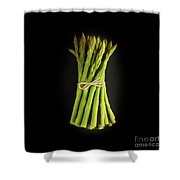 A Bunch Of Fresh Asparagus. Shower Curtain