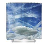 A Busy Sky Shower Curtain