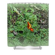 A Butterfly In The Garden Shower Curtain