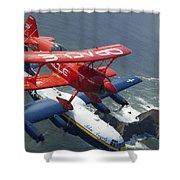 A C-130 Hercules Fat Albert Aircraft Shower Curtain