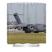 A C-17 Globemaster Strategic Transport Shower Curtain