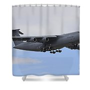 A C-5 Galaxy In Flight Over Nevada Shower Curtain
