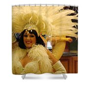 People Series - A C Showgirl Shower Curtain