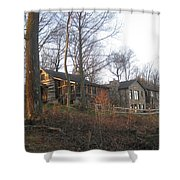 A Cabin On The Hill Shower Curtain