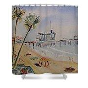 A California Pier Shower Curtain