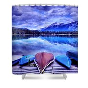 A Calm Afternoon At Lake Edith Shower Curtain