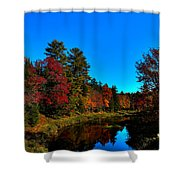 A Calm Fall Day On The Upper Moose Shower Curtain