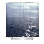 A Calm Ocean With Small Ripples Shower Curtain
