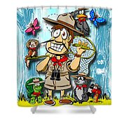 A Camping We Will Go Shower Curtain