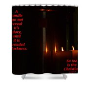 A Candle Shower Curtain