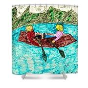 A Canoe Ride Shower Curtain