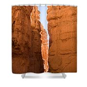A Canyon Reflects Red Light Bouncing Shower Curtain