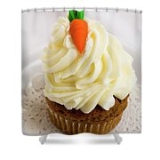 A Carrot Muffin Shower Curtain