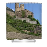 A Castle Among The Vineyards Shower Curtain