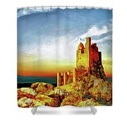 A Castle In Spain Shower Curtain