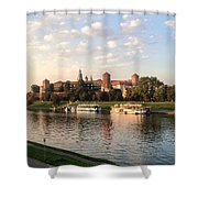 A Castle On The River Shower Curtain