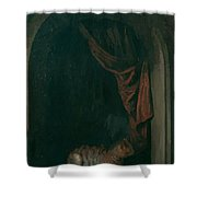 A Cat At The Window Of A Painters Studios 1657 Shower Curtain