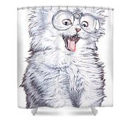 A Cat With Glasses Shower Curtain