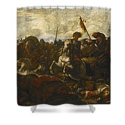 A Cavalry Engagement Shower Curtain