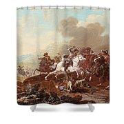 A Cavalry Skirmish Shower Curtain