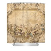 A Ceiling With Apollo Presiding Over Military And Historical Learning Shower Curtain