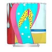 A Chancla On The Beach Shower Curtain