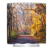 A Change Of Seasons On Forbidden Drive Shower Curtain