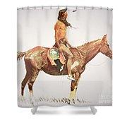 A Cheyenne Brave Shower Curtain