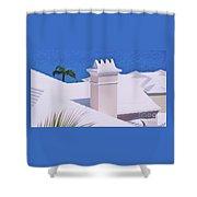 A Chimney At Tucker's Point, Bermuda Shower Curtain