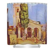 A Church At Cagnes Shower Curtain
