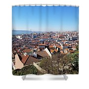 A City View  Shower Curtain