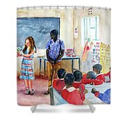 A Classroom In Africa Shower Curtain