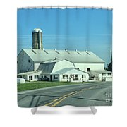 A Clear Amish Day Shower Curtain