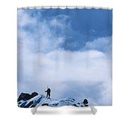 A Climber On The Airy Traverse Shower Curtain