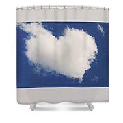 A Cloud Heart Shower Curtain