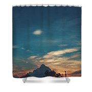 A Cloudy Mountain  Shower Curtain