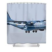 A Cn-235 Transport Aircraft Shower Curtain