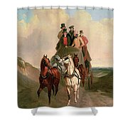 A Coach And Four On An Open Road  Shower Curtain