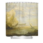 A Coastal Landscape Shower Curtain