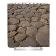A Cobblestone Road In Rome Shower Curtain