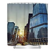 A Cold Chicago Day Shower Curtain