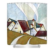 A Cold Day Shower Curtain