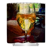 A Cold Glass Of Wine Shower Curtain
