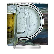 A Cold One For A Treat Shower Curtain