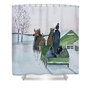 A Cold Ride Shower Curtain