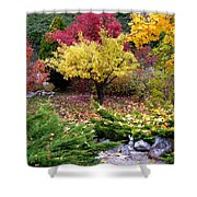 A Colorful Fall Corner Shower Curtain