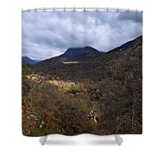 A Colorful Scene Of Burned And Lush Interspersed Foliage In The Southwest Foothills Of The Sierra Ne Shower Curtain