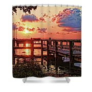 A Colorful Sunrise Shower Curtain