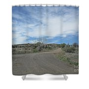 A Concho Ranch Shower Curtain